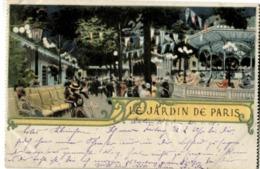 75 Paris Le Jardin De Paris Très Jolie Litho - Parcs, Jardins