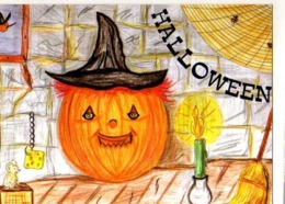 Collection Halloween,citrouille,souris,bougié,balai,toile D'araignee,illustrateur Matem - Halloween