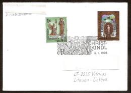 AUSTRIA 1995●Christkindl 1996.01.06●●Weihnachten●Brief Nach Litauen - Christmas