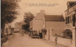 29 LE POULDU        Les 4 Chemins    Arrivée Par La Route De Quimperlé   TB PLAN 1937 PAS COURANT - Le Pouldu