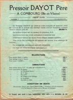 Pressoir DAYOT Combourg. 3 Documents Publicitaires - Reclame