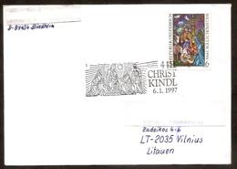 AUSTRIA 1996●Christkindl 1997.01.06●●Weihnachten●Drei Könige●Brief Nach Litauen - Christmas