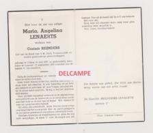 DOODSPRENTJE LENAERTS MARIA WEDUWE REIJNDERS OLMEN LOMMEL 1877 - 1960   Bewerkt Tegen Kopieren - Devotieprenten