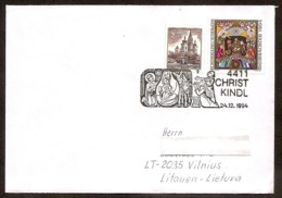AUSTRIA 1994●Christkindl●●Weihnachten●Brief Nach Litauen - Weihnachten