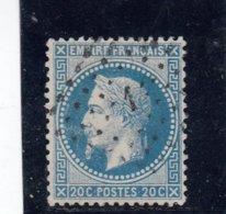 France - Napoléon III Lauré - N°Y.T 29A - 20c Bleu - Oblit. Losange PC 1 - 1863-1870 Napoleone III Con Gli Allori