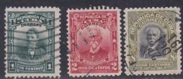 Cuba, Scott #247-248, 251, Used, Maso, Gomez, Garcia, Issued 1911 - Used Stamps