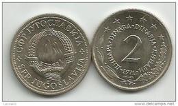 Yugoslavia 2 Dinara 1971. KM#57 UNC/AUNC - Jugoslawien
