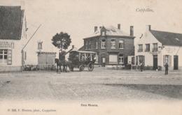 KAPELLEN - Den Hoorn - Prachtzicht Met Diligence Op Het Plein - Afspanning - Uitg. Hoelen Nr. 520 - 1905 - Kapellen