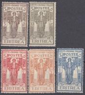 ERITREA, COLONIA ITALIANA - 1926 - Lotto Di 5 Valori Nuovi MH: Yvert 107, 108 E 110/112. - Eritrea