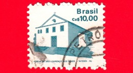 BRASILE - Usato - 1987 - Chiesa Si San Lorenzo Degli Indi - Niteroi - Brazilian Heritage - 10.00 - Gebruikt