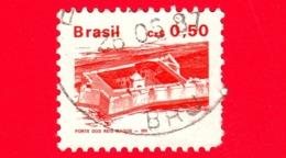 BRASILE - Usato - 1988 - Fortezza Dei Re Magi - Brazilian Heritage - 0.50 - Gebruikt