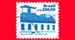 BRASILE - Usato - 1988 - Architettura - Brazilian Heritage - Ouro Preto - 200.00 - Gebruikt