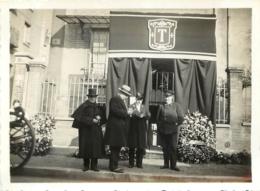 PARIS JOFFIN LAGRANGE 30 RUE DE LA COLONIE FLEURS COURONNES POMPES FUNEBRES 1935 PHOTO ORIGINALE 11.50 X 8.50 CM - Orte