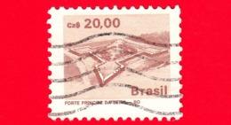 BRASILE - Usato - 1987 - Fortezza - Forte Principe Di Beira - 20.00 - Gebruikt