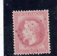 France - Napoléon III Lauré - N°Y.T 32 - 80c Rose - Oblit. Losange - 1863-1870 Napoleon III With Laurels