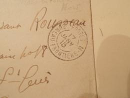 Lettre Enveloppe Oblitération Bureau Frontiére N 1915 (2568) - Marcofilie (Brieven)