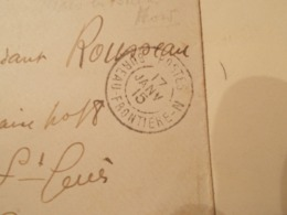 Lettre Enveloppe Oblitération Bureau Frontiére N 1915 (2568) - Oorlog 1914-18