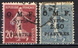 SIRIA - 1920 - SEMINATRICE CON SOVRASTAMPA O.M.F. - OVERPRINTED - USATI - Usati