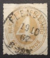Schleswig-Holstein: Yvert N° 24 (Schleswig 1864-67) Oblitéré - Schleswig-Holstein