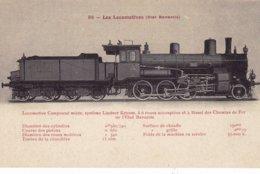 BAVARIA  Les Locomotives ( état Bavarois ) Fleury - Texte En Rouge . N° 98 - Locomotive - Train - Virgin Card !! - Treinen