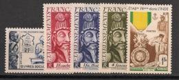 Inde - 1950-52 - N°Yv. 254 à 258 - Complet - 5v - Neuf Luxe ** / MNH / Postfrisch - Indien (1892-1954)