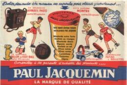 Ancien Buvard Publicitaire Moutarde JACQUEMIN - Food