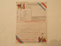 Carte Franchise Militaire Avec Carte Réponse Attenante (2571) - Marcophilie (Lettres)