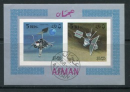 AJMAN- Bloc Oblitéré (espace) - Espacio
