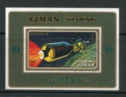 AJMAN- Bloc Oblitéré (Apollo 15) - Espacio