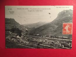La Gare Vue Générale Début 1900 Salins Du Jura ( Les Bains) , Train De Marchandise, Fort Belin Et Fort Saint André - Frankrijk