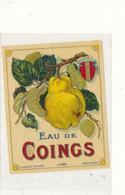 AN 689 / ETIQUETTE    EAU DE COINGS N° 499 - Etiquettes