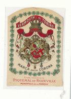 AN 690 / ETIQUETTE    VERMOUTH DI TORINO  PIQUEMAL DE ROZEVILLE - Labels