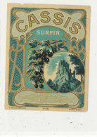 AN 701 / ETIQUETTE      CASSIS SURFIN  N° 463 - Labels