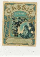 AN 701 / ETIQUETTE      CASSIS SURFIN  N° 463 - Unclassified