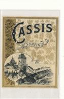 AN 702 / ETIQUETTE      CASSIS SURFIN  N° 427 - Labels