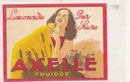 AN 706 / ETIQUETTE     LIMONADE  PUR SUCRE  AXELLE FRUIDOR - Labels