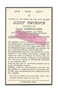 D 875. JOZEF SWENNEN - Gewezen Burgemeester VEULEN - °GROOT-GELMEN 1886 / +VEULEN 1944 - Devotion Images
