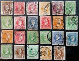 GRECE 23 TIMBRES ANCIENS HERMES OBLITERES USED - 1861-86 Grands Hermes