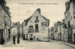 Ancenis - Rue Natioanle Et Rue Du Château - Belle Animation - Ancenis