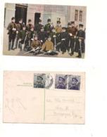 FB180 POSTCARD SERBIA MILITAR GARDE ROYALE 1913 STAMP MARK BEOGRAD - Serbia