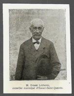 1918  --  M ERNEST LECHEVIN CONSEILLER MUNICIPAL D ECOURT SAINT QUENTIN  3R794 - Old Paper