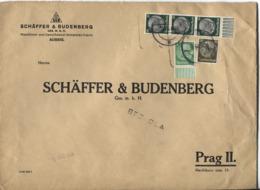 Sudetenland Aussig Provis. Stempel 3.12.38 Brief > Prag - Occupation 1938-45