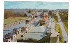 "THOROLD, Ontario, Canada, CSL ""Nipigon Bay"",Welland Canal Locks , Old Chrome Postcard, Welland County - Sonstige"