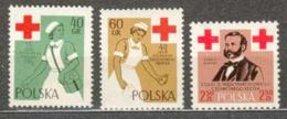 POLAND MNH **  985-987 Anniversaire De La Croix Rouge Polonaise, Henri Dunant, Centenaire De L'idée De La Croix Rouge - Ungebraucht