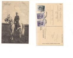 FB184 POSTCARD SERBIA MONTENEGRO 1913 STAMP Reali Principe Georges - Serbia