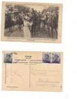 FB187 POSTCARD SERBIA MONTENEGRO 1913 STAMP Reali  Principe Alexandre Beograd Mark - Serbia