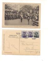 FB188 POSTCARD SERBIA MONTENEGRO 1913 STAMP Case Reali Roi Pierre Alexandre Beograd Mark - Serbia