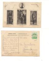 FB189 POSTCARD SERBIA MONTENEGRO 1913 STAMP Case Reali Roi Beograd Mark. - Serbia