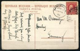 5363 - USA - Ansichtskarte Aus San Luis Potosi (Mexico) Mit US-Marke Aus Saint Louis Nach Hamburg - Briefe U. Dokumente