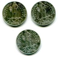 5369 - ÖSTERREICH - 3mal 200 Grinzing Gulden (je 200 Schilling), 1983 Johannes Paul II, 1984 Weinkultur + 1985 Beethoven - Oesterreich